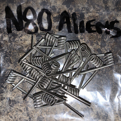 *LOCALLY MADE* Custom Hand-wrapped Alien Coils (SOLD BY THE PAIR)