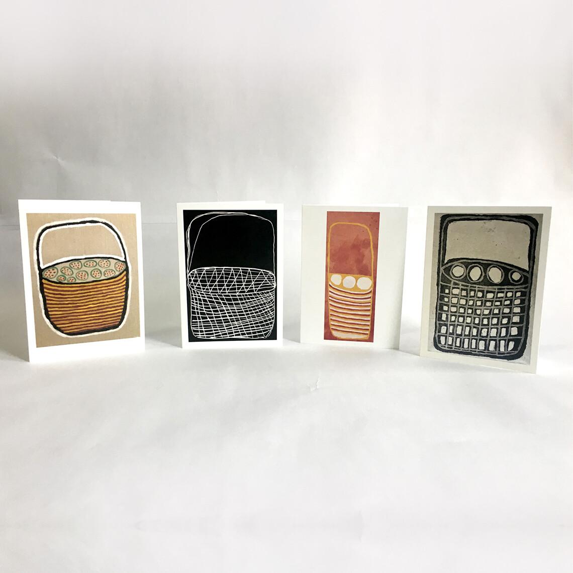 Cards (set of 4) by Cecily Djandjomerr