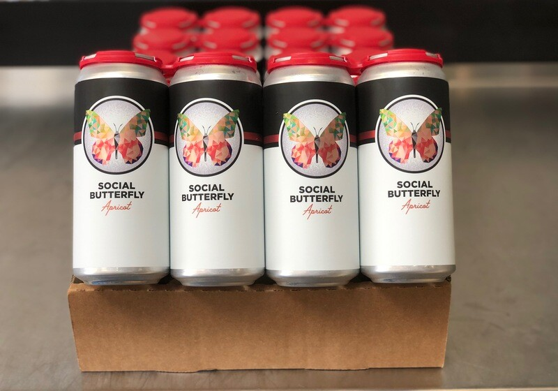 Social Butterfly Apricot full case (24 x 16oz. cans)