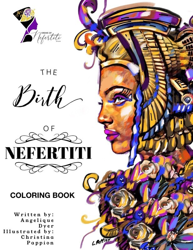 The Birth of Nefertiti Coloring Book