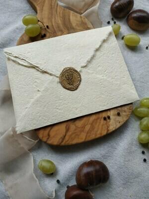 Busta carta cotone artigianale