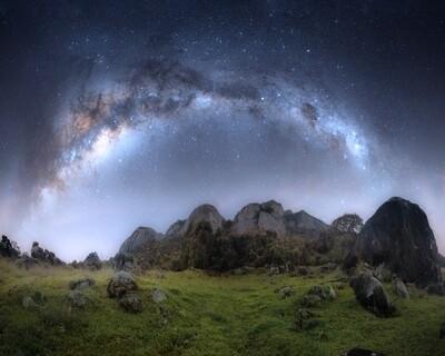 Pedra Branca e Via Láctea
