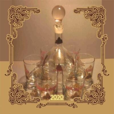 Нанесение. Ваша Символика (Вензель, Монограмма, Герб, Логотип) на Стеклянной Посуде.