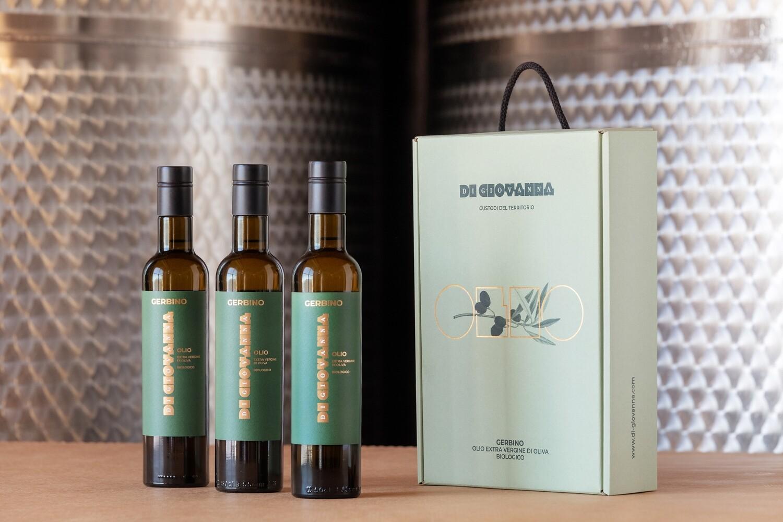 Olio di Oliva Gerbino 2020- Confezione 3 Bottiglie (500 ml)