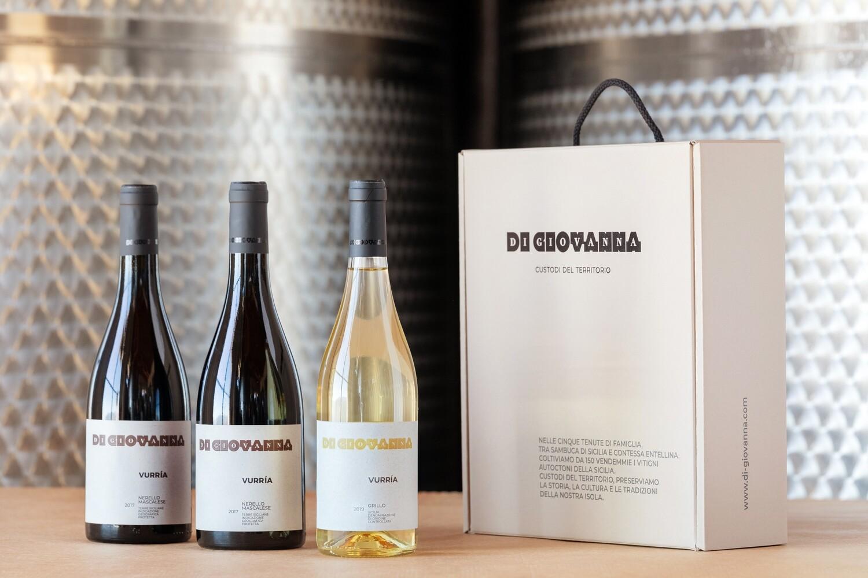 Vurria Vini Siciliani- Confezione Regalo 3 Bottiglie Vino