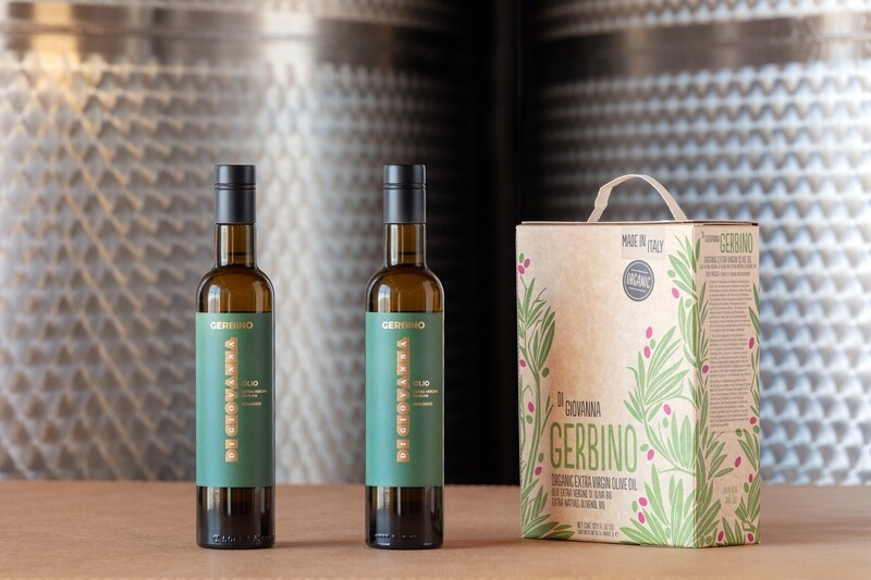 Gerbino Organic Olive Oil 3 Liter Box + 2 bottles (500 ml)