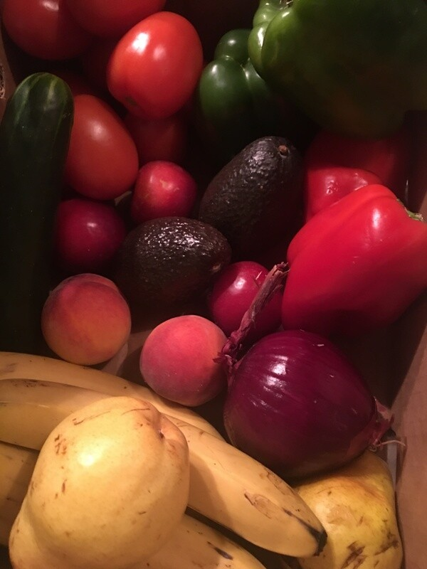 Loyal Vegan Large variety of seasonal fruits, vegetables, beans, and lentils
