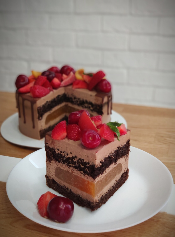 Шоколадный торт 1 кг.