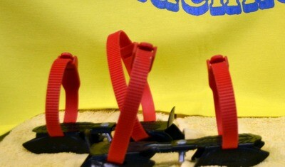 Dubbele IJzers Maat 21 Zwart/Rood