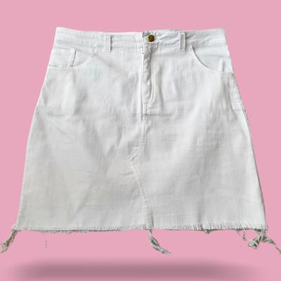 Falda jean blanca mine