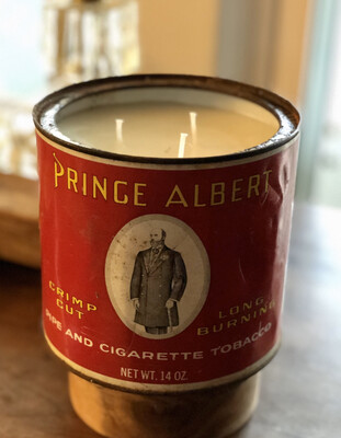 Prince Albert Tin 3 Wick Candle