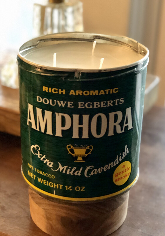 Amphora Tobacco Tin Candle - Unscented