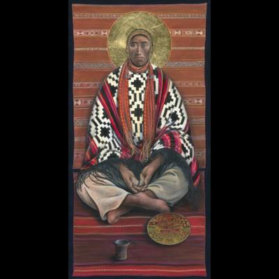 Andean Christ Breaking Bread #52