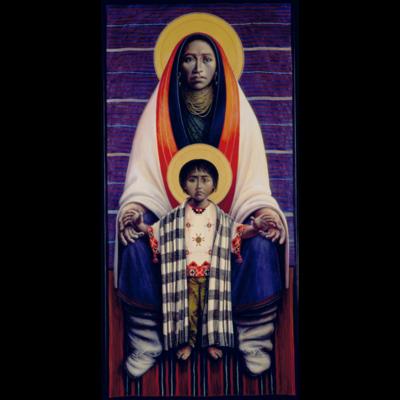 Hopi Virgin and Child - Barn Madonna #21