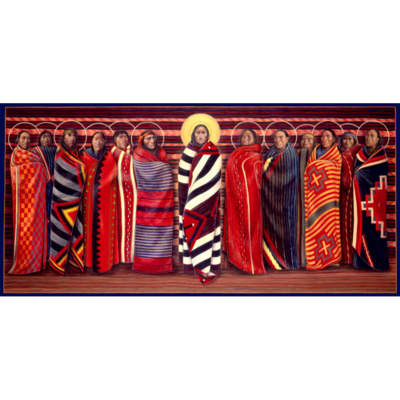 Navajo Jesus and Disciples #28