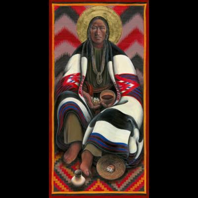 Navajo Christ Breaking Bread V #60