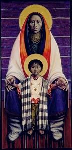 Hopi Virgin and Child - Barn Madonna