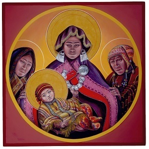 Andean Madonna and Child