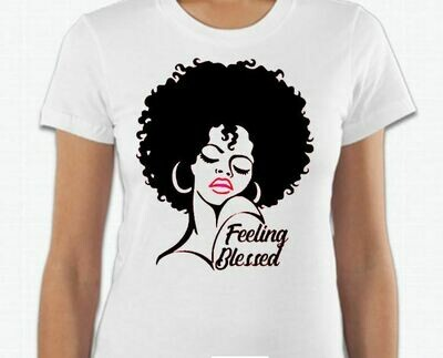 Feeling Blessed Afro Tee