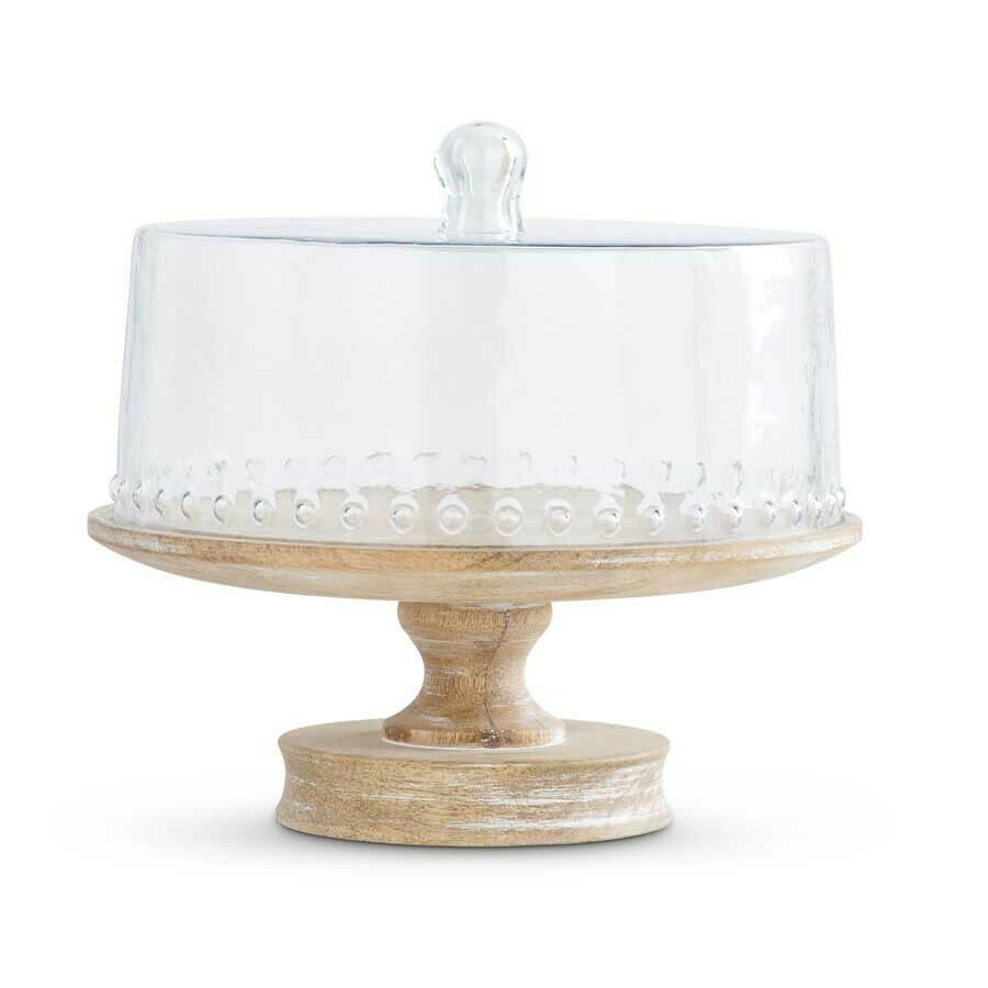 Cake Stand w/Ripped Glass Dome