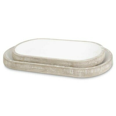 Oval Wood Tray (Large)