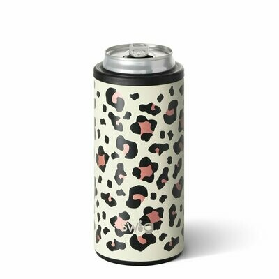 Luxy Leopard 12oz Skinny Can Cooler