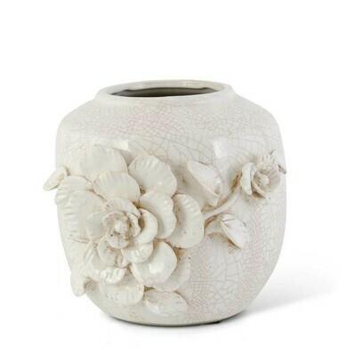 Ceramic Vase w/Roses
