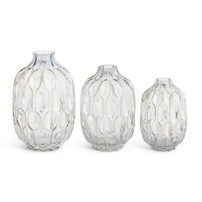 Glass Smoked Gold Vase/Sm