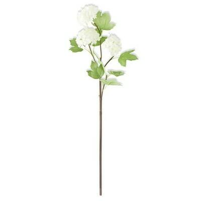 Snowball 3 Bloom Hydrangea Stem