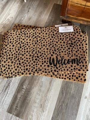 Cheetah Welcome Door Mat