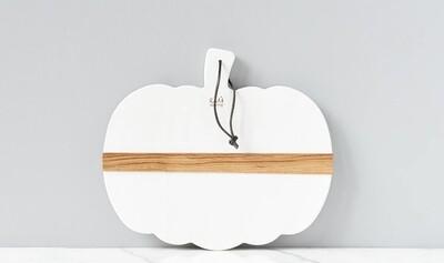 White Mod Pumpkin Charcuterie Board/Small