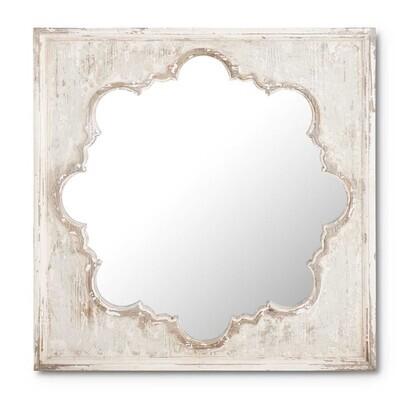 Square Whitewashed Mirror