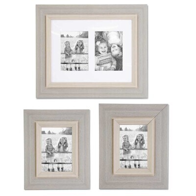 5x7 Wooden Gray Frame/Double