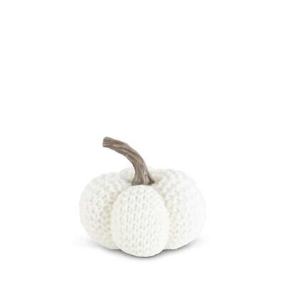 White Knit Stuffed Pumpkin