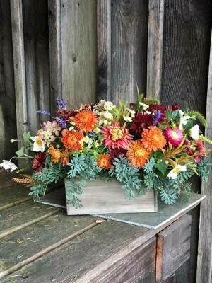 Long and Low Thanksgiving Centerpiece (available for Thanksgiving pre-orders ONLY)