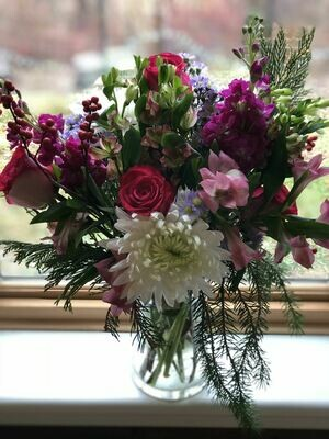 Valentine's day bouquet + 6 week flower share! DELIVERY Option