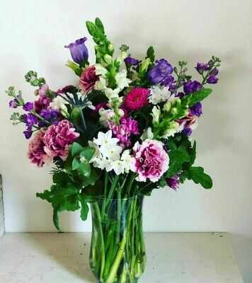 Valentine's bouquet + 6 week flower share! PICK UP Option