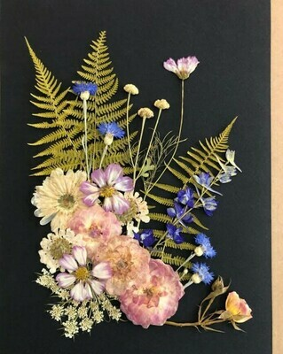 Pressed Flower Kit: Pink and Blue