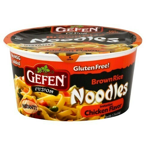 Instant G/F Chicken Flavored Brown Rice Noodles  (2.25oz) Gefen