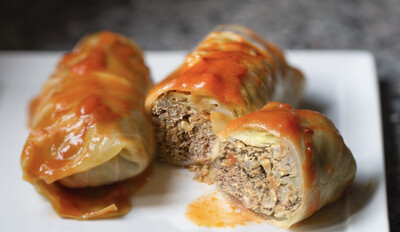Passover Meat Stuffed Cabbage