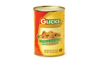 Mushrooms - Stems & Pieces (8oz) Glicks