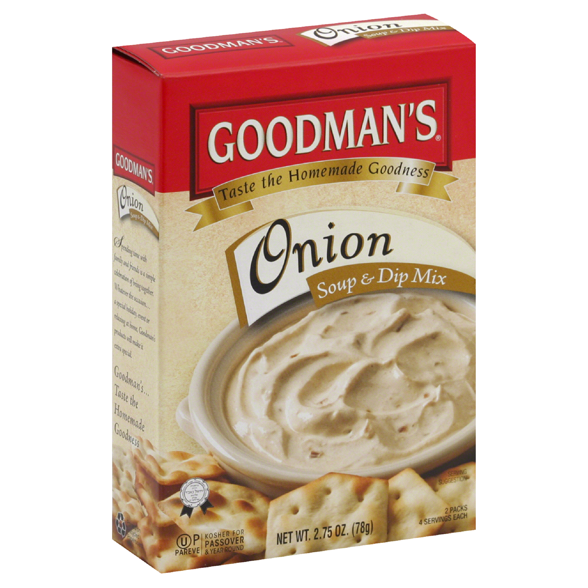 Onion Soup & Dip Mix (2.75oz) Goodmans