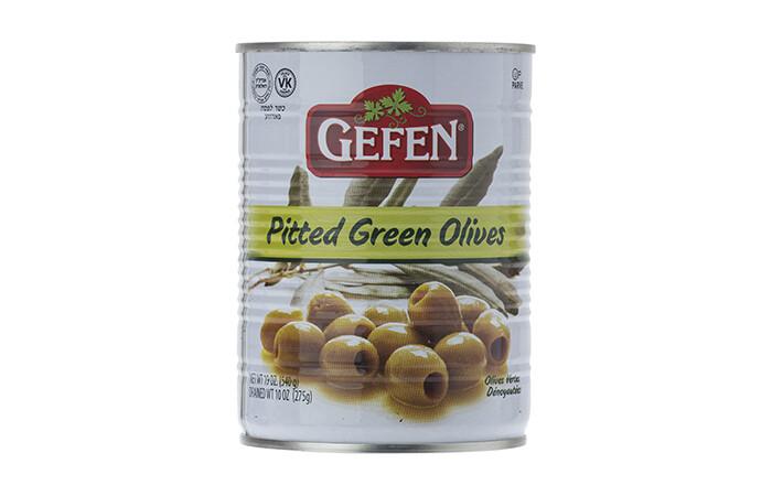 Pitted Green Olives (19oz) Gefen