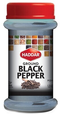 Ground Black Pepper (1.23oz) Haddar