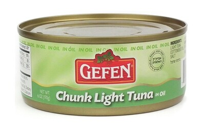 Chunk Light Tuna in Oil (6oz) Gefen