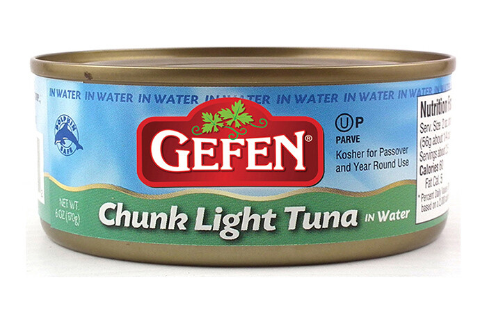 Chunk Light Tuna in Water (6oz) Gefen, Glicks
