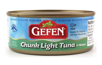 Chunk Light Tuna in Water (6oz) Gefen, Glicks