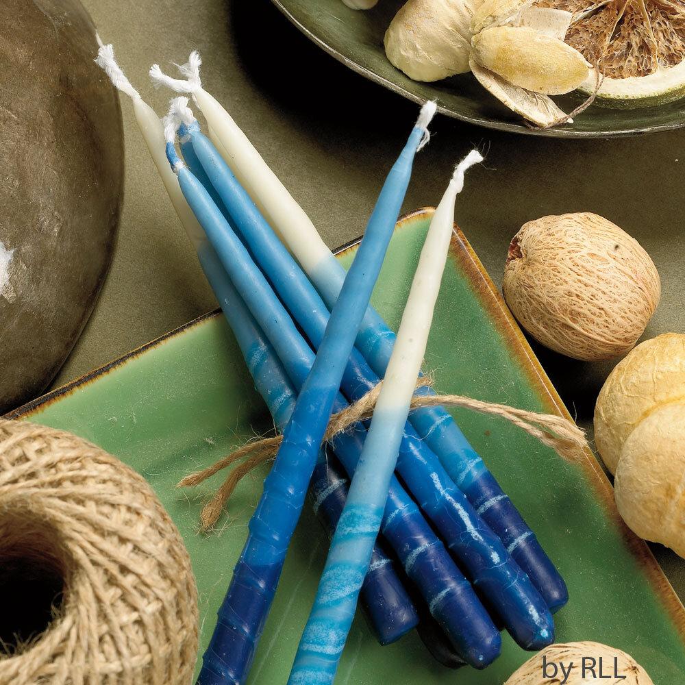 CHANUKAH CANDLES, BLUE/WHITE a