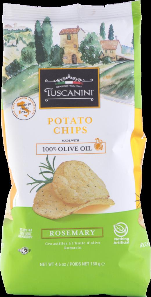 Olive Oil Potato Chips RosemaryGF 4.6oz Tuscan KP