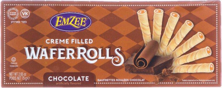 Creamed Filled Choco Wafer Rolls 2.65oz Gefen Y